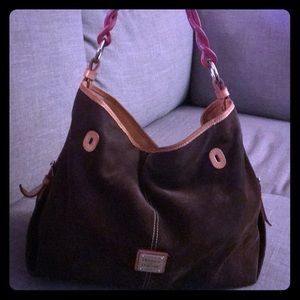Dooney and bourke suede purse